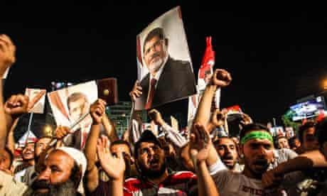 Pro-Morsi Supporters Protest In Cairo