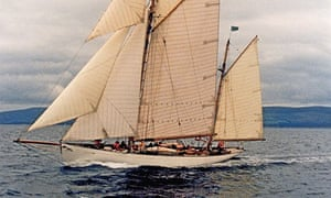 Surface tension … the 80ft ketch Kentra, built by William Fife (III) in 1923, which raced in the Fif