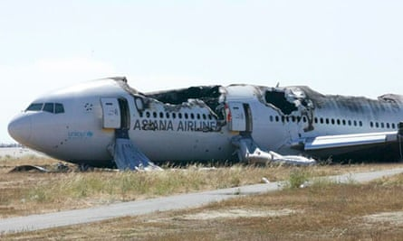 Asiana Airlines Boeing 777 plane that crashed in San Francisco
