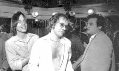 Warren Zevon,  John Belushi & Jackson Browne.