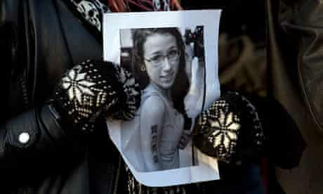 Canadian teenager Rehtaeh Parsons, who hanged herself after allegedly being gang raped and then subj
