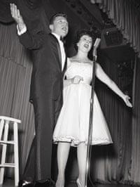 Eydie Gorme and Steve Lawrence sing onstage