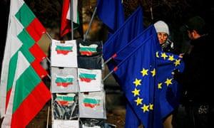 Bulgarian and EU flags