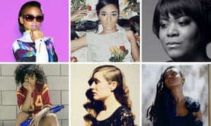 Composite image of publicity photos of new female R&B stars