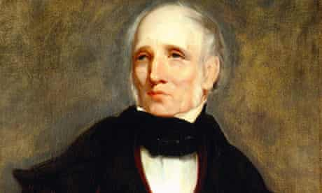 Painting of William Wordsworth at Wordsworth House Cockermouth Cumbria