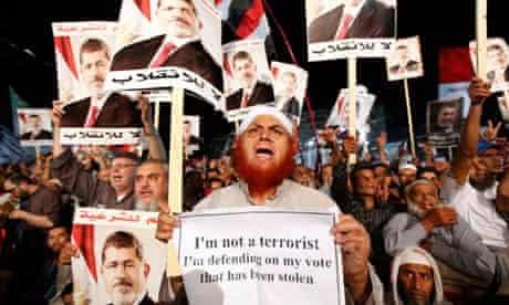 A Morsi supporter