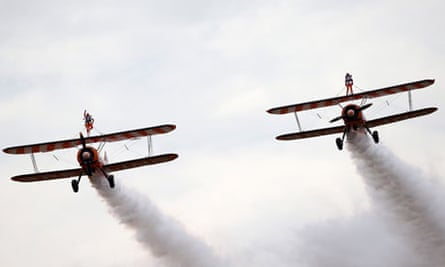 Two Nine-Year Olds Become The World's Youngest Formation Wingwalkers