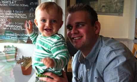 Luke Allnutt and son Tommy