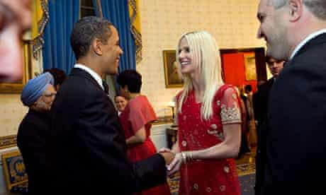 Michaele and Tareq Salahi meeting Barack Obama.