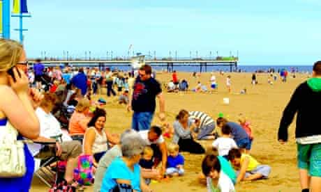 busy Skegness, beach & pier, Lincolnshire