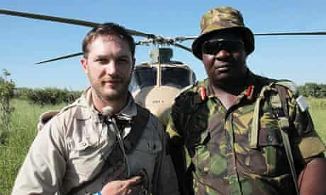 Tom Hardy with Brigadier Macheng of the Botswana s Defence Force.