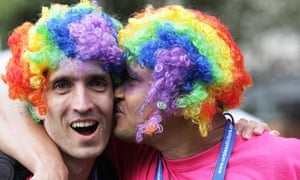 The gay pride parade in Manchester on Saturday