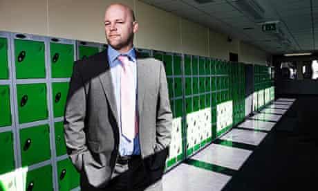 Educating Yorkshire: Jonny Mitchell, headteacher, Thornhill Community Academy, standing in corridor