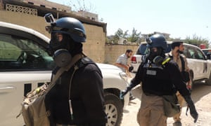 UN chemical weapons inspectors in Syria