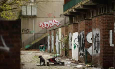 Derelict housing estate
