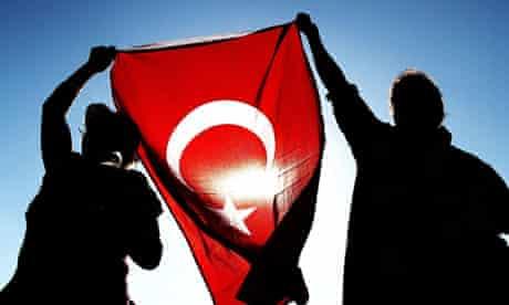 Protesters in Taksim Square