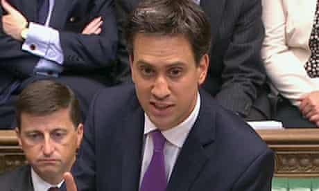 Ed Miliband, Labour leader, speaks during the Syria debate