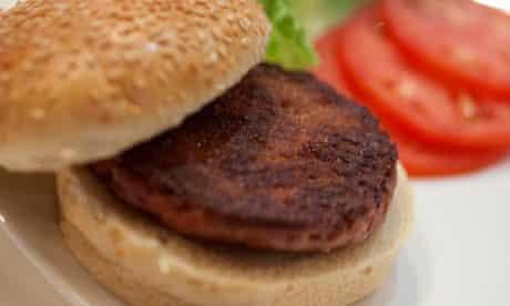 The 'Google burger' … it looks like beef, tastes like beef …