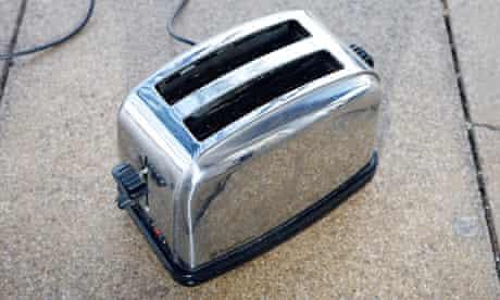 Toaster on floor