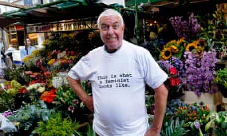 Man in feminist t-shirt