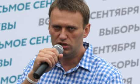 Alexei Navalny in Moscow, July 2013