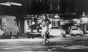 Unidentified prostitute on the street in New York City.