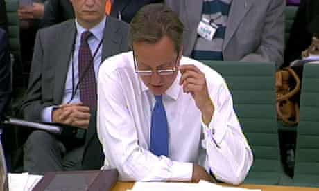 David Cameron appears before the liaison committee