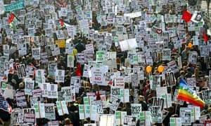 march against iraq war