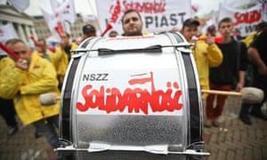 Solidarity trade union demonstration