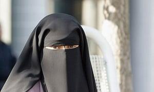Woman wearing niqab