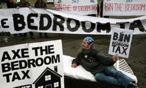 Bedroom tax protest in Glasgow