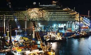 The wreck of Italy's Costa Concordia