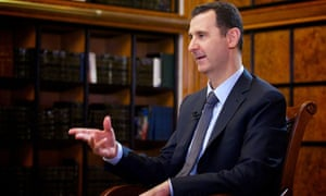 Syria's President Assad is interviewed in Damascus