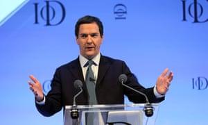 George Osborne Institute of Directors Annual Conference, Royal Albert Hall, London