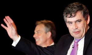 Tony Blair and Gordon Brown at conference in 2006