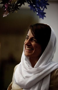 Lawyer Nasrin Sotoudeh smiles at her home in Tehran