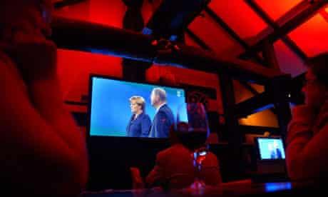 TV election debate Merkel v Steinbrück