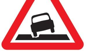Potholes road sign