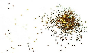 Gold glitter. Image shot 2007.