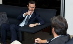 Bashar al-Assad speaking to Le Figaro