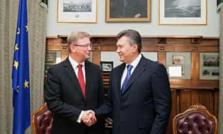Viktor Yanukovych and Stefan Fule