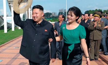 North Korea's Kim Jong-un and wife Ri Sol-ju