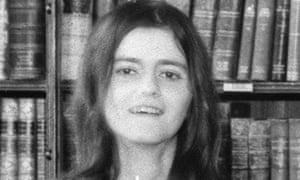 Ann Widdecombe as a student.