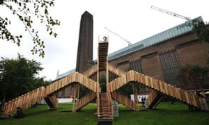 The installataion Endless Stair outside the Tate Modern in London.