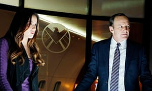Chloe Bennett and Mark Gregg in Agents of SHIELD.