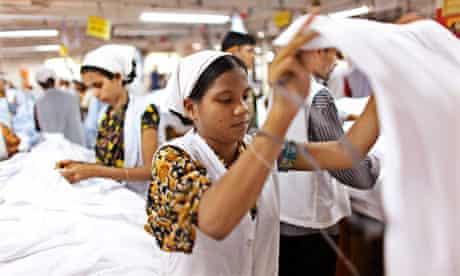 Rosy Khatun works in a garment factory in Gazipur
