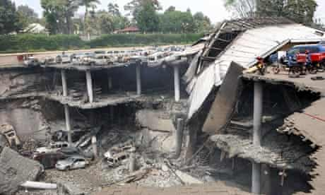 A destroyed section of the Westgate mall in Nairobi, Kenya