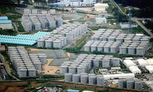 Tanks of contaminated water at the Fukushima Daiichi plant, in Japan.