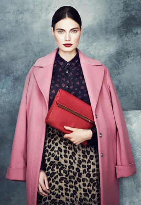 Marks & Spencers pink coat