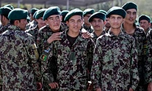 Afghan army cadets at a graduation ceremony in Kabul.